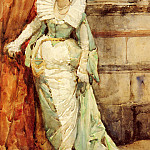 Spanish artists - Ortiz Francisco Pradilla y An Elegant Lady