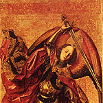 Spanish artists - Bermejo Bartolomeo de Cardenas St Michael And The Dragon