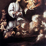 Spanish artists - ANTOLINEZ Jose St Rose Of Lima Before The Madonna