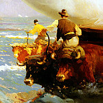 Cubells y Ruiz Enrigue Martinez Return From Fishing, Spanish artists