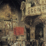 Spanish artists - Procession At The End of Mass