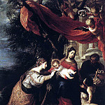 Spanish artists - CEREZO Mateo The Mystic Marriage Of St Catherine