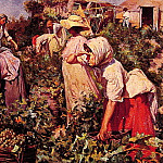 Picking grapes, Spanish artists