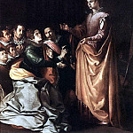 Spanish artists - HERRERA Francisco de the Elder St Catherine Appearing To The Prisoners