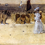 Spanish artists - Arntzenius Floris Figures On The Beach Scheveningen