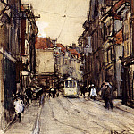 Spanish artists - Arntzenius Floris A Busy Street The Hague