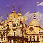 Spanish artists - Sanz Ulpiano Checa y Piazza San Marco