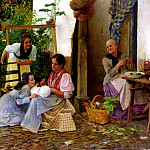 Spanish artists - Cabrera Ricardo Lopez Feeding The Baby
