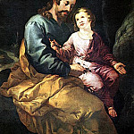 Spanish artists - HERRERA Francisco de the Elder St Joseph And The Child