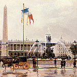 Checa Y Sanz Ulpiano A View Of The Place De La Concorde, Spanish artists