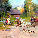 Polish artists - Kossak, Jerzy - Just Married