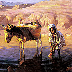 Polish artists - Styka, Adam - At The Watering Hole