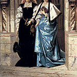 Bakalowicz Ladislaus Two Elegant Ladies Leaving A Church, Ladislaus Bakalowicz