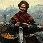 Polish artists - Aleksander Gierymski (1850–1901) - Jewish woman selling oranges