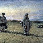 Return reapers of the field in the province of Ryazan. H. 1874, m. 25, 8h65 GTG, Vasily Perov