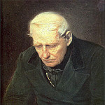Vasily Perov - old man. Fragm. option because old people - parents in the tomb of his son. 1874 H., M. 58h47 Minsk