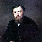 Portrait of AA, Borisov. H. 1869, 89h71 am GRM, Vasily Perov