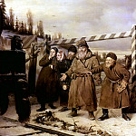 On the railroad. H. 1868, 52h66 am GTG, Vasily Perov