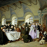 Vasily Perov - Meal (Monastic Refectory)