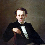 Self-portrait. H. 1851, 77h59 pm, 5 KMRI, Vasily Perov