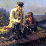 Fishing, Vasily Perov