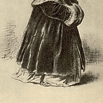 Confused girl. Et. to K. The Janitor, who gives a flat mistress. Fig. pencil. 1864 TG, Vasily Perov