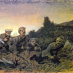 Vasily Perov - Plastun Sevastopol. Esk. painting in 1874 from KMRI. 40x60. 8 TG