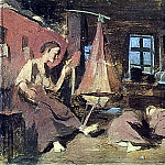 Vasily Perov - night in the hut. Sketch for Children Sleeping. B. K., m. 14, 4h20 TG