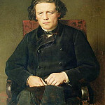 Portrait of Anton Rubinstein. 1870 H., M., 96x80 Gos. muses. music. cult. them. Glinka, M., Vasily Perov