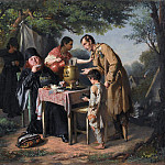 Tea in Mytishchi, near Moscow. J. 1862, m. 43, 5h47, 3 GTG, Vasily Perov
