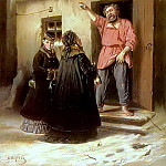 Vasily Perov - Janitor, who gives a flat mistress. 1878 Yaroslavl