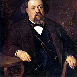 Portrait of the writer AF Pisemsky. 1869, Vasily Perov