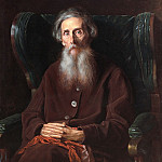 Portrait of the writer Vladimir Ivanovich Dal. H. 1872, 94h80 pm, 5 GTG, Vasily Perov