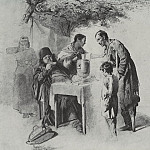 Tea in Mytishchi, near Moscow. 1862 Fig. 31h37, 5 GTG, Vasily Perov