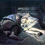 Sleeping children. 1870 H., M. 53h61 TG, Vasily Perov