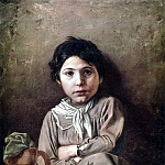 Vasily Perov - Girl with a jug. J. 1869, 72h53 am GRM