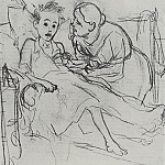 Vasily Perov - Mother with sick child. 1878 Fig. 29, 9h22, 6 TG