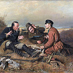 Vasily Perov - hunters in camp