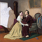 Arrival schoolgirl to a blind father. 1870 H., m. 60, 5h53 TG, Vasily Perov