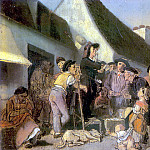 Seller singers. Sketch. H. 1863, 21h16 am Kazan, Vasily Perov