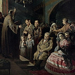 900 Classic russian paintings - Sermon in the village