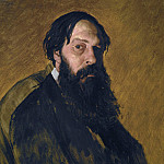 Portrait of the Painter Alexey Savrasov. H., M. 71h57 TG, Alexey Kondratievich Savrasov