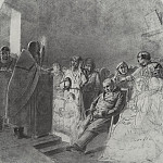 Sermon in the village. 1861 Fig. 49h39, 4 HTG, Vasily Perov