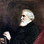 Portrait of the writer Ivan Sergeyevich Turgenev. 1872 H., M. 102x80 GRM, Vasily Perov