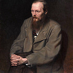 Portrait of the writer Fyodor Dostoevsky. H. 1872, 99h80 pm, 5 GTG, Vasily Perov