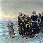 Return peasants from the funeral in the winter. Beginning. 1880 K, 36h56 pm, 7 TG, Vasily Perov