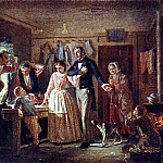 Vasily Perov - courtship clerk to a daughter of a tailor. 1862 TG