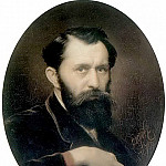 Self-portrait. H. 1870, m. 59, 7h46 GTG, Vasily Perov
