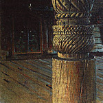 carved pillars in the refectory Petropavlosk church in the village Puchugi Vologda province. 1894, Vasily Vereshchagin
