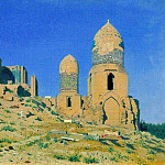 Vasily Vereshchagin - Mausoleum of Shah-i-Zinda in Samarkand. 1869-1870